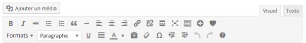 Editeur de texte WordPress