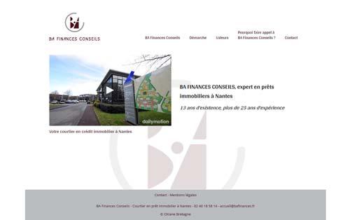 Page d'accueil du site Internet B.A. Finances
