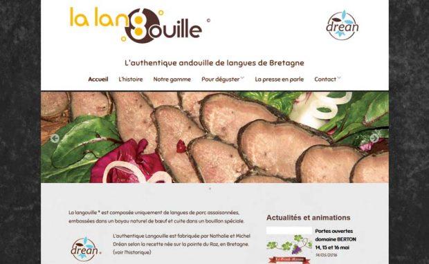 Page d'accueil du site Internet La Langouille