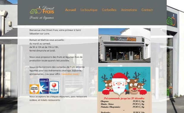 Page d'accueil du site Direct Frais
