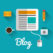 Blog concept with technology icons design